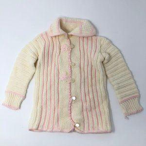 Handmade Crochet Baby Cardigan Sweater Girl